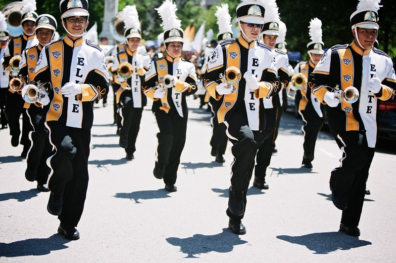 Houston Gateway Academy marching band